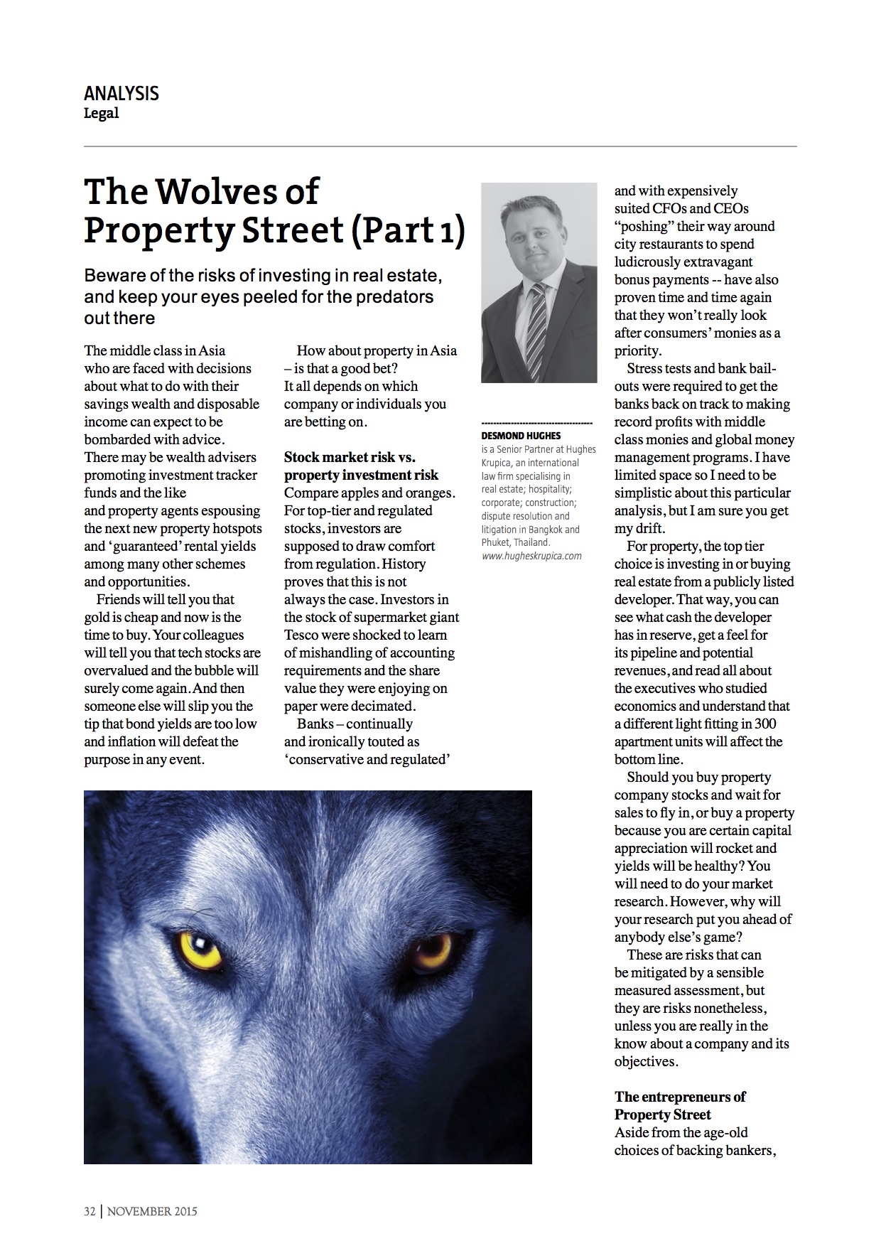 The Wolves of Property Street (Part One of Two)
